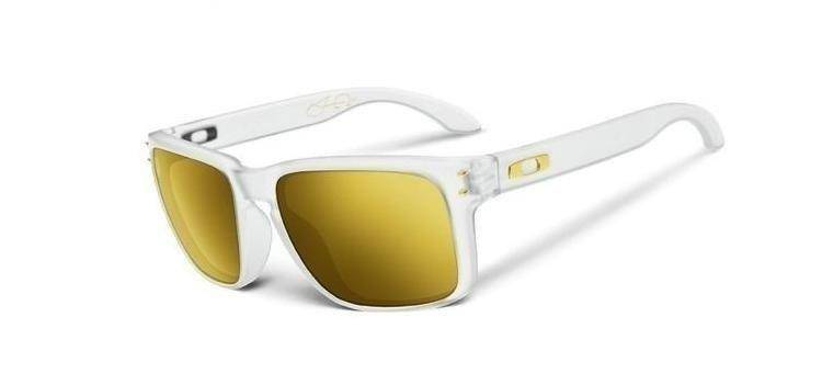 oakley white  Okulary Shaun White HOLBROOK Matte Clear / 24K Iridium Polarized ...