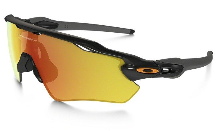 black and yellow oakley sunglasses 194m  OAKLEY Sunglasses RADAR EV PATH Polished Black / Fire Iridium OO9208-19