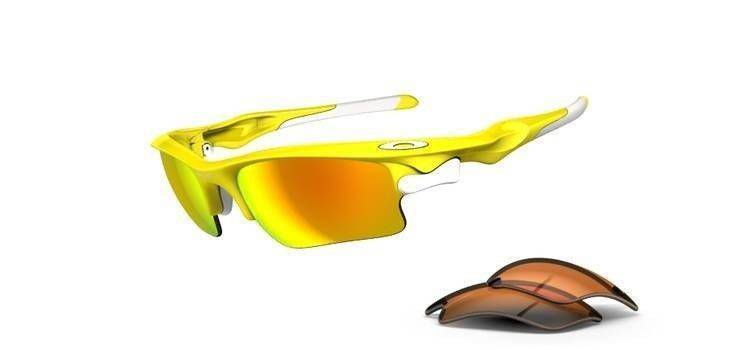 Oakley Sunglasses  FAST JACKET XL Lemon Peel/Fire Iridium, Persimmon OO9156-11