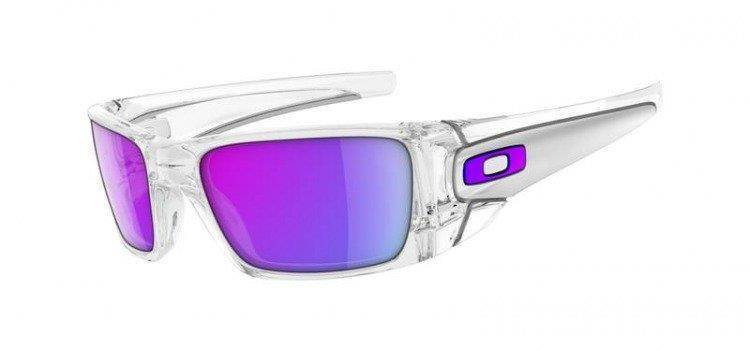 Oakley Sunglasses FUEL CELL Polished Clear/Matte Clear/Violet Iridium OO9096-04