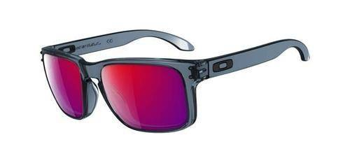 Oakley Sunglasses  HOLBROOK Crystal Black/Positive Red Iridium OO9102-44
