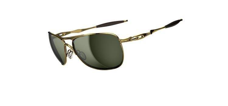 182d6949259 Oakley Sunglasses CROSSHAIR Polished Gold Dark Grey OO4060-01 ...