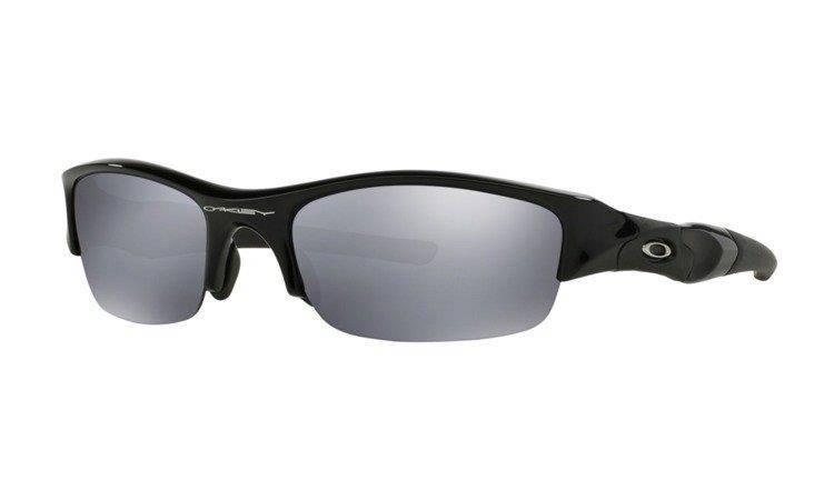 510233270a Oakley Sunglasses FLAK JACKET Jet Black Black Iridium 03-881 ...