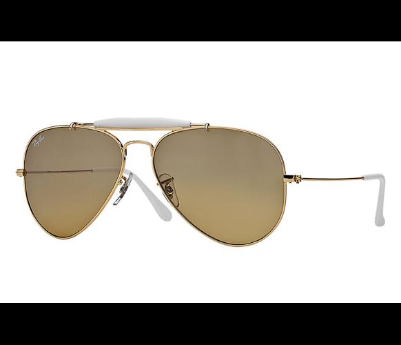 2b919592f1 Ray-Ban Sunglasses OUTDOORSMAN II RAINBOW RB3407 - 001 3K