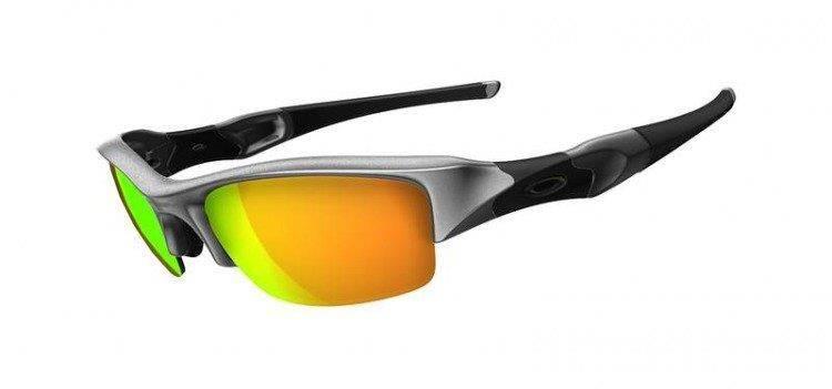 d0c49d81c3 Oakley Sunglasses FLAK JACKET Silver Fire Iridium 03-884