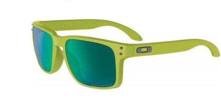 Oakley Sunglasses HOLBROOK Matte Fern/Jade Iridium Polarized OO9102-72