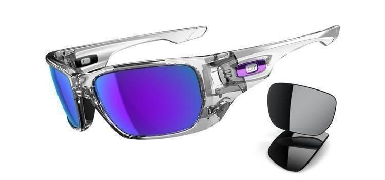 611f6eb8c7 Oakley Sunglasses STYLE SWITCH Polished Clear Violet Iridium   Black  Iridium OO9194- ...