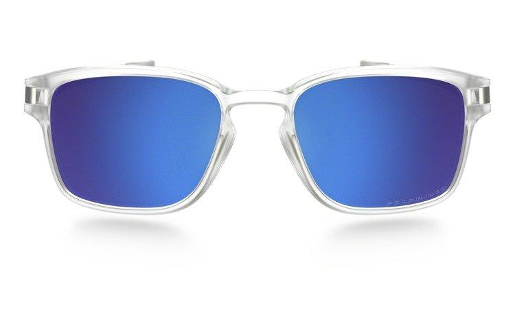 d9c2ee0e383 ... Oakley Sunglasses LATCH SQ Matte Clear Sapphire Iridium Polarized OO9353-06  ...