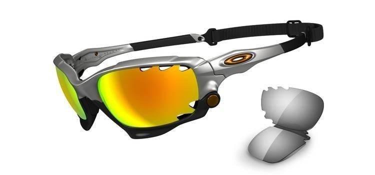 5e08044415 Oakley Sunglasses RACING JACKET Silver Fire Iridium Polarized   Light Grey  OO9171-21