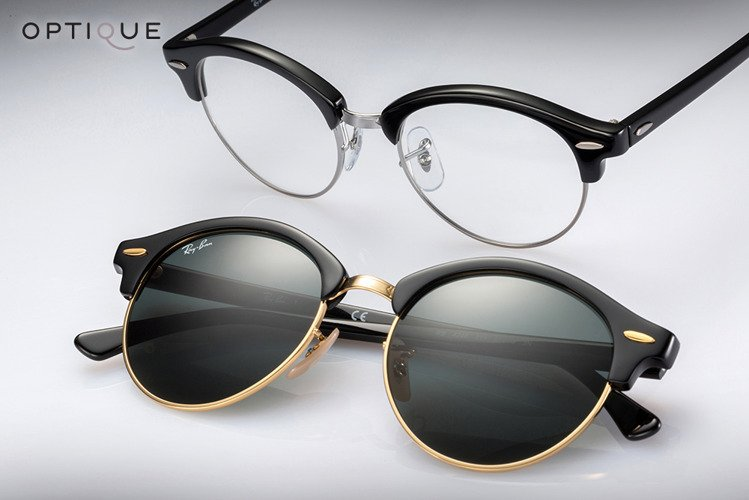 ray ban clubround optics