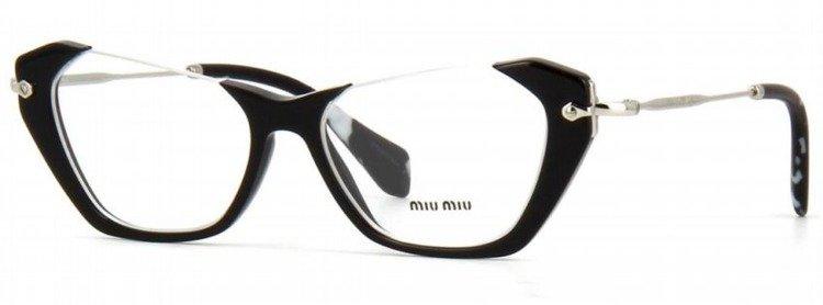 miu miu optical frame mu04ov 1ab1o1 - Miu Miu Glasses Frames