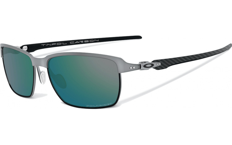 6590e2b39e Oakley Sunglasses Tinfoil Carbon® Lead Matte Black Emerald Irdium Polarised  OO6018-04