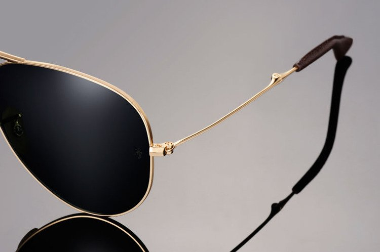 cd5541d77d59e Ray-Ban Sunglasses plated with 18k gold Polarized AVIATOR Ultra Folding  RB3479KQ - 001 N5