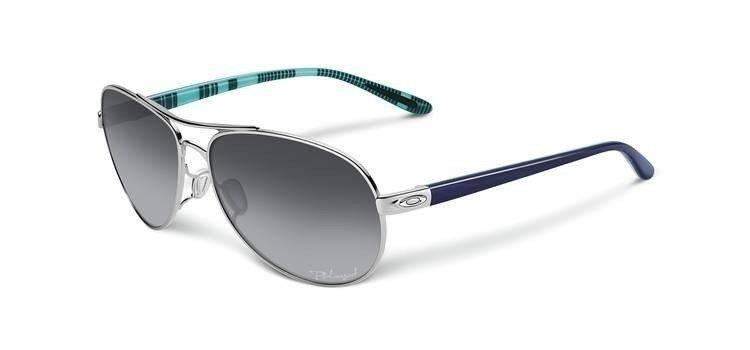 d34620a9238 Oakley Sunglasses FEEDBACK Polished Chrome Grey Gradient Polarized OO4079-07