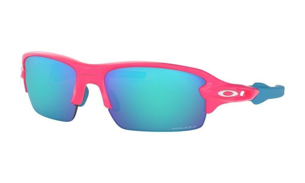 cf76432ea909ee ... Oakley Okulary przeciwsłoneczne Dziecięce FLAK XS Neon Pink/Prizm  Sapphire OJ9005-03 ...