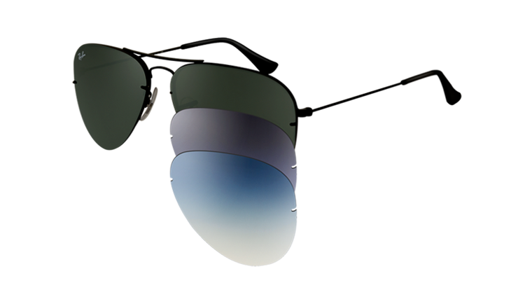 b35c0d24409 Ray-Ban Sunglasses AVIATOR FLIP OUT RB3460 - 002 71 ...