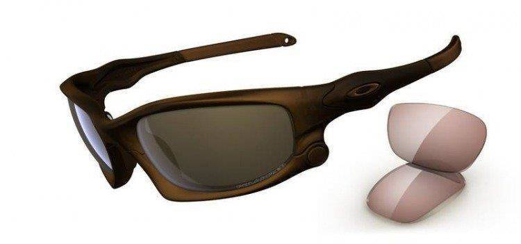 Oakley Sunglasses  SPLIT JACKET Matte Rootbeer/Tungsten Iridium Polarized, VR50 OO9099-02