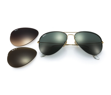 Ray-Ban Okulary AVIATOR FLIP OUT RB3460 - 001/71