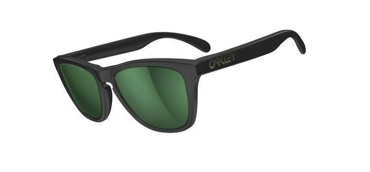 165b84a454 Oakley Sunglasses Frogskins Matte Black Emerald Iridium Polarized 24-404
