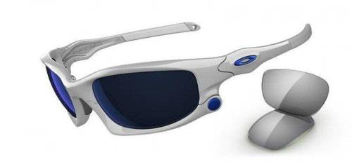 Oakley Okulary SPLIT JACKET Polished White/Ice Iridium, Light Grey OO9099-03