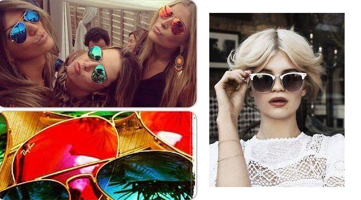 Celebrities with Ray-Ban glasses