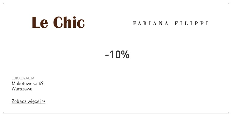 Le Chic | Fabiana Filippi - partner Optique Club