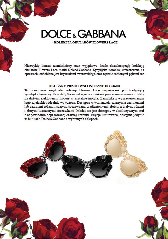 okulary Dolce&Gabbana Flowers