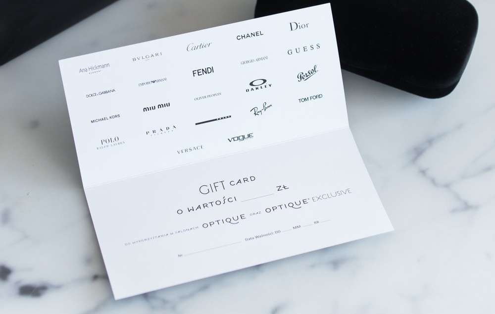 Gift Card Optique